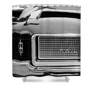 1972 Oldsmobile 442 Grille Emblem Shower Curtain
