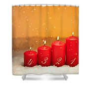 4th Advent  Shower Curtain