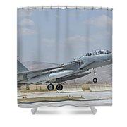 A Royal Saudi Air Force F-15 Shower Curtain