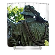 A Soldier's Hand Shower Curtain