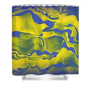 Abstract 106 Shower Curtain