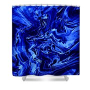 Abstract 28 Shower Curtain
