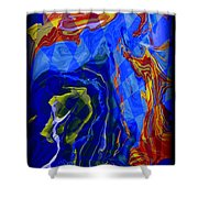 Abstract 30 Shower Curtain
