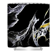 Abstract 35 Shower Curtain