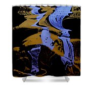 Abstract 37 Shower Curtain