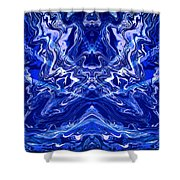 Abstract 44 Shower Curtain