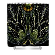 Abstract 92 Shower Curtain