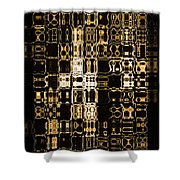 Abstract 96 Shower Curtain