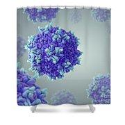 Adeno-associated Virus Shower Curtain