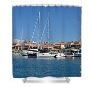 Aegina Port Shower Curtain
