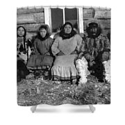 Alaska Eskimo Family Shower Curtain