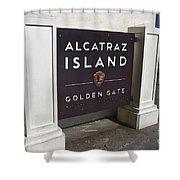 Alcatraz Island Shower Curtain