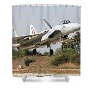 An F-15c Baz Of The Israeli Air Force Shower Curtain