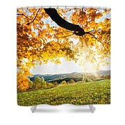 Abstract Summer Sunset. Shower Curtain
