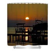 An Outer Banks North Carolina Sunset Shower Curtain