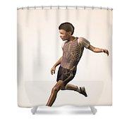 Anatomy Of Movement Child Shower Curtain