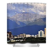 Anchorage Skyline Shower Curtain