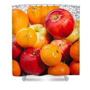 Apple Tangerine And Oranges Shower Curtain