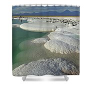 Atacama Salt Lake Near San Pedro De Shower Curtain