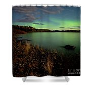 Aurora Borealis Northern Lights Display Shower Curtain