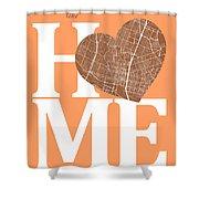 Austin Street Map Home Heart - Austin Texas Road Map In A Heart Shower Curtain