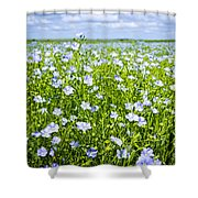 Blooming Flax Field Shower Curtain