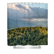 Blue Ridge Parkway Scenic Mountains Overlook Summer Landscape Shower Curtain