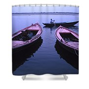 Boats On The Ganges River Shower Curtain