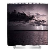 4 Bolts Over Captiva Island Shower Curtain