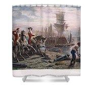 Boston: Evacuation, 1776 Shower Curtain