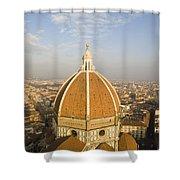 Brunelleschi's Dome At The Basilica Di Santa Maria Del Fiore Shower Curtain