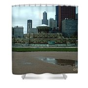 Buckingham Fountain Shower Curtain