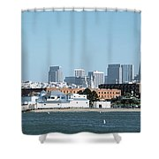 Buildings At The Waterfront, San Shower Curtain