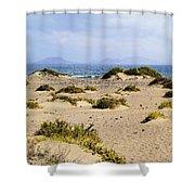 Caleta De Famara Beach On Lanzarote Shower Curtain