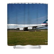 Cathay Pacific Boeing 747 Shower Curtain
