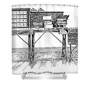 Census Machine, 1890 Shower Curtain