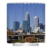Charlotte Skyline Shower Curtain by Jill Lang