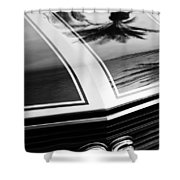 Chevrolet Chevelle Ss Grille Emblem Shower Curtain