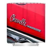 Chevrolet Chevelle Ss Taillight Emblem Shower Curtain
