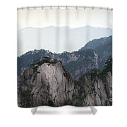 Chinese White Pine On Mt. Huangshan Shower Curtain