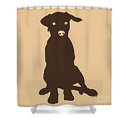 Chocolate Labrador Shower Curtain