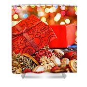 Christmas Box Shower Curtain