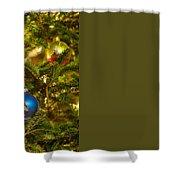 Christmas Tree Ornaments Shower Curtain