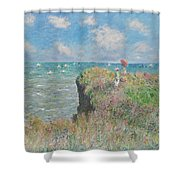 Cliff Walk At Pourville Shower Curtain