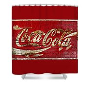 Coca Cola Sign Cracked Paint Shower Curtain
