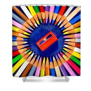 Colorful Pencils Shower Curtain