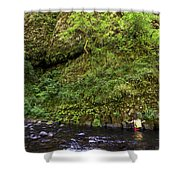 Columbia River Gorge, Oregon, Usa Shower Curtain