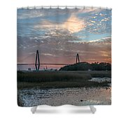 Charleston Cooper River Bridge Shower Curtain
