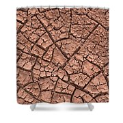 Cracked Dry Clay Shower Curtain