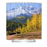 Crystal Lake On Pikes Peak Shower Curtain